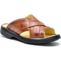 Sandália Dr Shoes Conforto Masculino - Masculino-Preto
