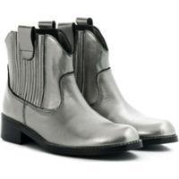 Bonpoint Ankle Boot Western - Metálico