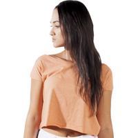 Blusa Cropped Wanted Custom Comfort Laranja
