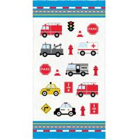Toalha De Banho Felpuda Truck- Azul & Vermelha- 60X1Lepper