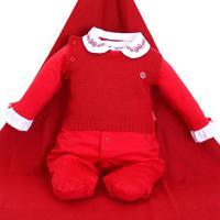 Saída De Maternidade Sonho Mágico Feminina Tricô Vermelho