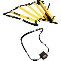 Kit Escada De Agilidade Com 10 Degraus Pretorian Ec-Pp Aparelho Abdominal Dobrável Liveup Ls9030
