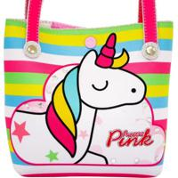 Bolsa Infantil Princesa Pink Listrada Unicórnio Color Multicolorido