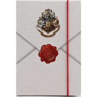 Caderno Harry Potter Envelope Carta De Hogwarts Sem Pauta 20,5 X 14 Bege Claro