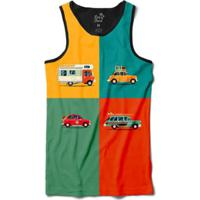 Camiseta Long Beach Regata Carros Sublimada Masculina - Masculino