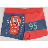 Sunga Infantil Boxer Relâmpago Mcqueen Proteção Uv50+ Vermelha