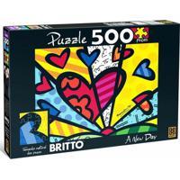 Quebra-Cabeça - Romero Britto - A New Day - 500 Peças - Grow - Unissex-Incolor