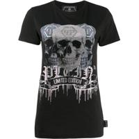 Philipp Plein Crystal Embellished T-Shirt - Preto