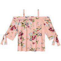 Blusa Ciganinha Floral Tecido Rosa Tam. Gg