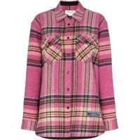 We11Done Camisa Xadrez Com Bolsos - Rosa