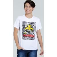 Camiseta Juvenil Bumblebee Transformers Manga Curta Hasbro