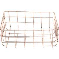 Cesta Ferro Copper Wire Square Cobre 24.5X20X9.5Cm Urban