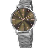 Relógio Analógico Seculus Masculino - 20815G0Sgns1 Prateado