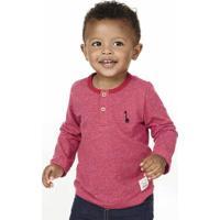 Camiseta Infantil Bebê Menino Mangas Longas Em Algodão Puc