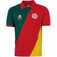 Camisa Gaúcha Do Inter Extra Grande Gola Polo Cores Da Bandeira Do Rs Verde Vermelho Amarelo Algodão Licenciado Internacional Original Masculino Tamanho Especial Xxl Xgg Plus Size