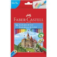 Lápis De Cor - Ecolápis - Sextavado - 36 Cores - Faber-Castell