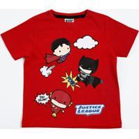 Camiseta Infantil Super Hérois Liga Da Justiça