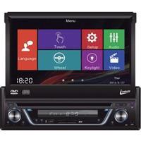 """Dvd Player Automotivo Leadership 5975 Com Tela Touch Retrátil De 7"""", Rádio Am/Fm, Conexão Usb E Entrada Auxiliar"""