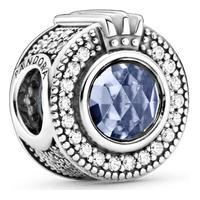 Charm Em Coroa O Azul Brilhante Pandora Signature