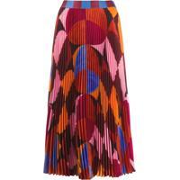 Stella Jean Saia Midi Color Block - Vermelho