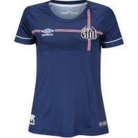 Camisa Do Santos Nations The Kingdom Umbro - Feminina - Azul Esc/Branco