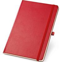 Caderneta De Anotações Topget 12X18Cm 80 Folhas Sem Pauta - Vermelho