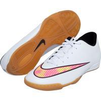 Chuteira Nike Mercurial Vortex Ii Ic Branca 8be6b7aeb2