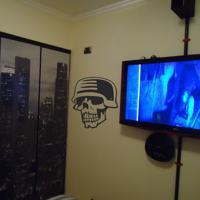 Adesivo De Parede Skull 04