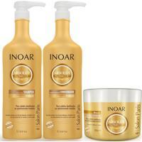 Kit Shampoo Inoar Absolut Daymoist + Condicionador 1L + Mascara 500Ml.