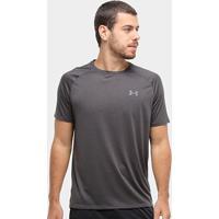 Camiseta Under Armour Tech 2.0 Ss Masculina - Masculino-Preto+Cinza