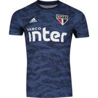 Camisa De Goleiro Do São Paulo 2019 Adidas - Masculina - Azul Esc/Branco