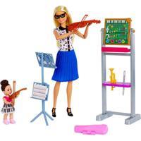 Playset E Boneca Barbie - Profissões - Barbie Professora De Música - Mattel