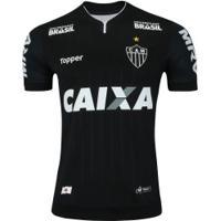 Camisa Do Atlético-Mg Iii 2018 Topper - Masculina - Preto