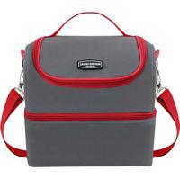 Bolsa Térmica Gg- Cinza & Vermelha- 28X27X22,5Cmjacki Design
