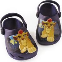 Babuche Infantil Ventor Rei Leão Lion Guard Disney Plugt Masculino - Masculino-Marinho