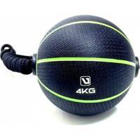 Bola Liveup De Peso Medicine Ball Ls3006E/4 Com Corda 4Kg - Unissex