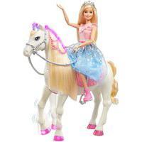 Boneca Barbie Aventura Das Princesas Com Cavalo - Mattel