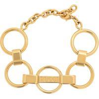 Emilio Pucci Pulseira Com Logo Gravado E Corrente - Dourado