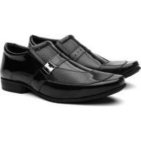 Sapato Social Hshoes Conforto Elegante Masculino - Masculino-Preto