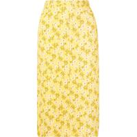 Nº21 Saia Midi Floral - Amarelo