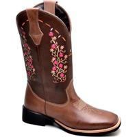 Bota Top Franca Shoes Texana - Feminino-Café