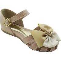 Sapato Boneca Com Tiras- Nude- Mz Kidmz Kid