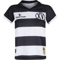 Camisa Do Xv De Piracicaba I 2019 Nº 15 Super Bolla - Feminina - Preto/Branco