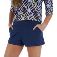 Shorts Fila Gold - Feminino - Azul Escuro
