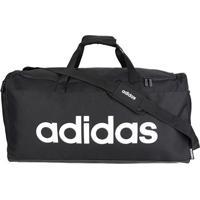 Mala Adidas Linear Duffle - Unissex-Preto+Branco