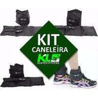 Kit Caneleira Tornozeleira De Peso 2Kg 3Kg 4Kg Fixa Velcro - Unissex