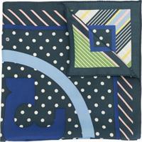 Tory Burch Echarpe Com Estampa De Logo - Azul