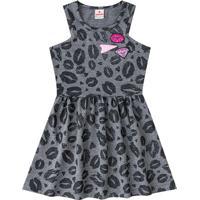 Vestido Beijos- Cinza & Rosa- Primeiros Passosbrandili