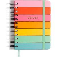 Agenda Planner 2020 11,5 Cm X16 Cm Arco-Íris Diário Cicero