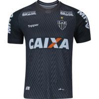Camisa De Goleiro Do Atlético-Mg I 2018 Topper - Masculina - Cinza Escuro